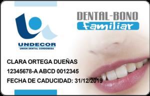 Tarjeta Undecor Salud Dental